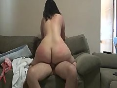 BBW rides old rod til this babe cums