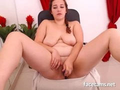 Girl BBW Gal Masturbating On Webcam